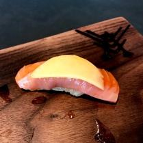 Suchiro Heddo-Steelhead Trout with yellow peach