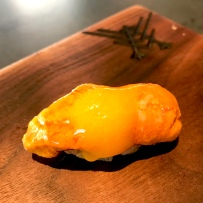 Uni - Sea Urchin (Fort Bragg) with egg yolk/shiro dashi emulsion